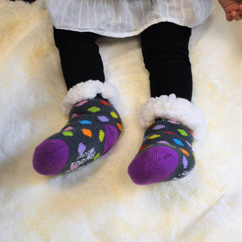 Toddler Classic Slipper Socks | Polka Dot Multi