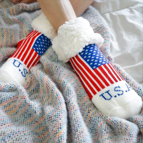 Classic Slipper Socks | Americana