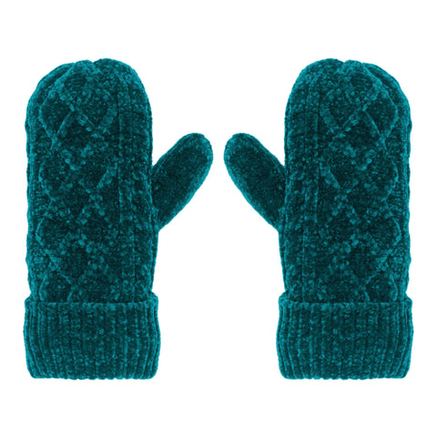 Chenille Knit Winter Mittens | Harbour