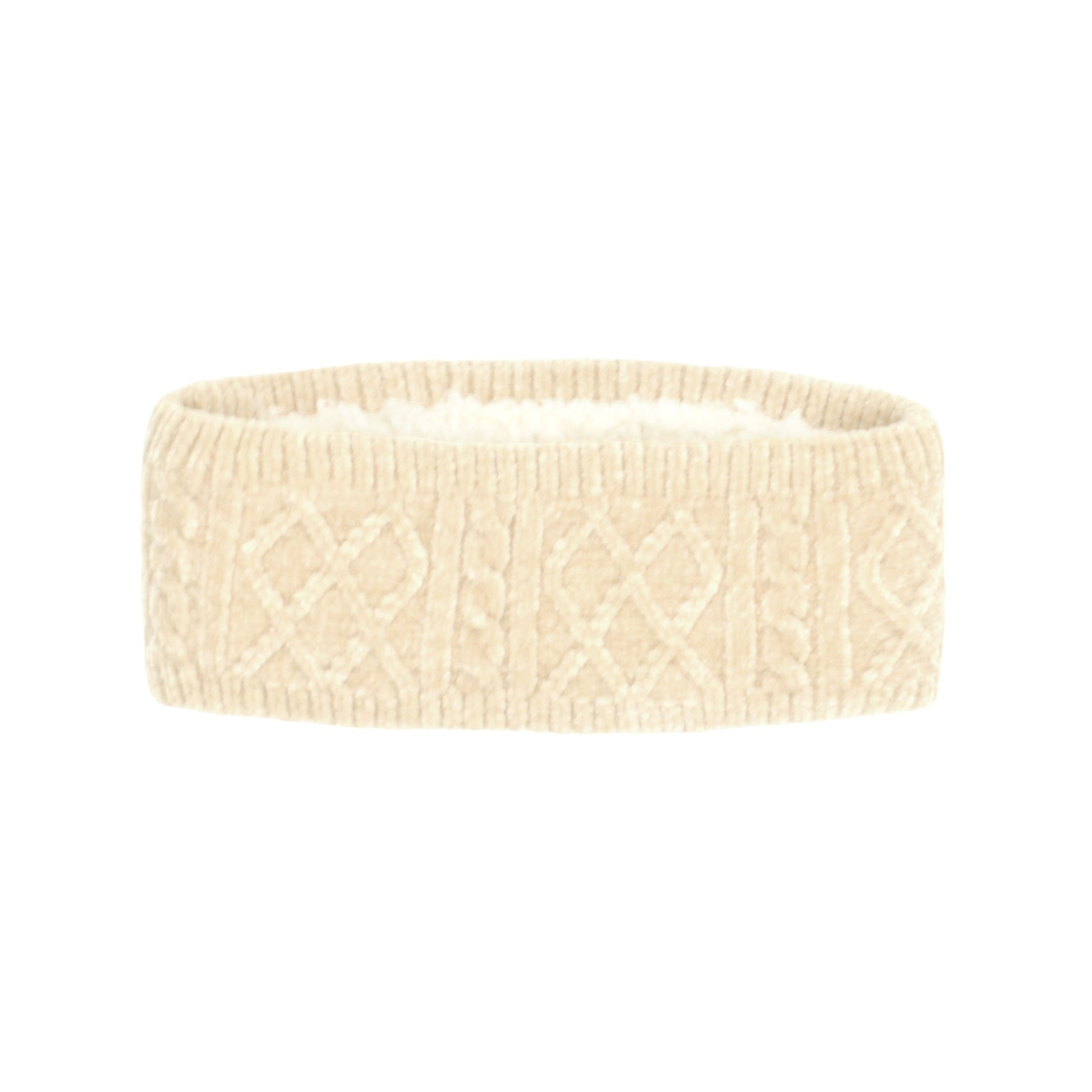 Chenille Knit Headband | White