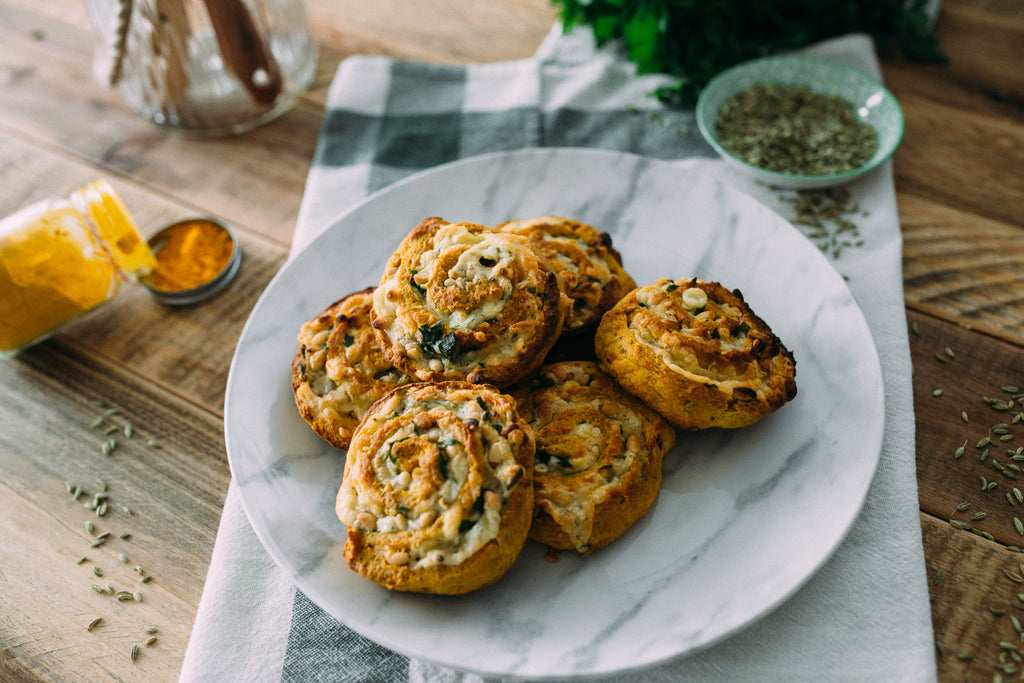 Sweet Potato and Fennel Scrolls