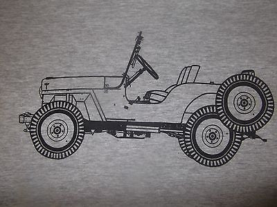 Men's Long sleeve Vintage Willys Jeep T Shirt