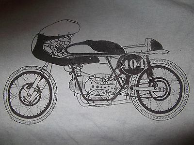 Men's Gray Vintage CAFE RACER Motorcycle tee