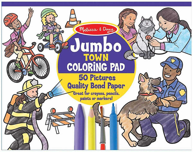Jumbo Colouring Pad Town