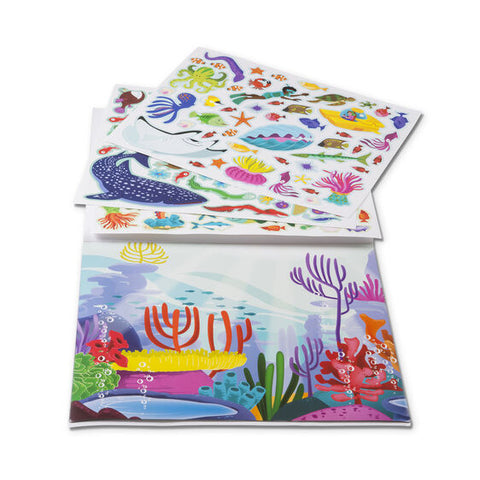 M & D Reusable Sticker Pad Under the Sea