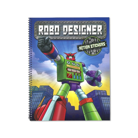 Create your own Robot action sticker book