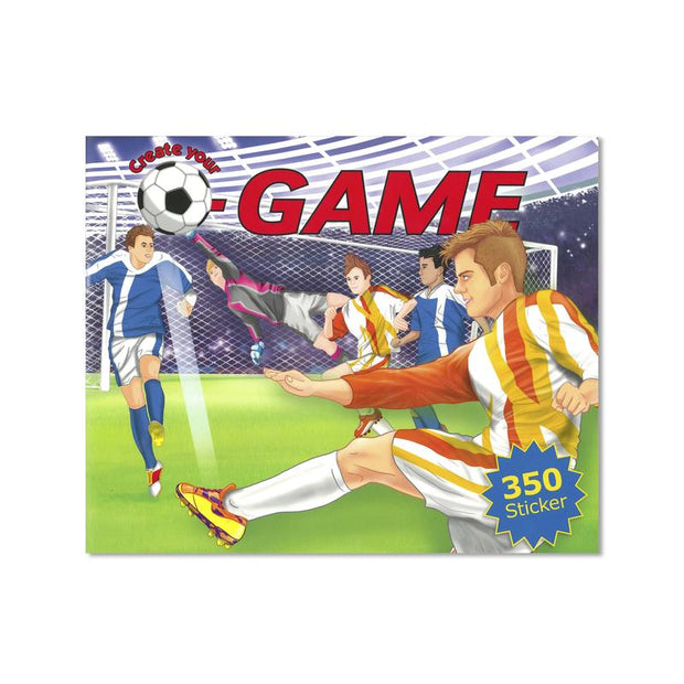 Create your own soccer game - sticker book