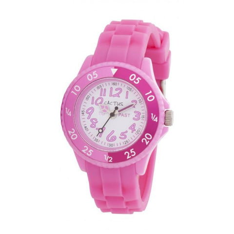 Watch - Pink with spin dial and silicone band