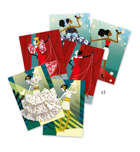 Frilly sewing Cards - So Paris