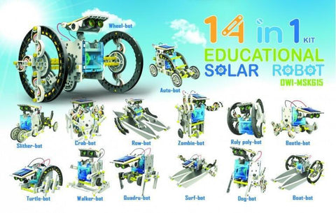14 in 1 Educational Solar Robot