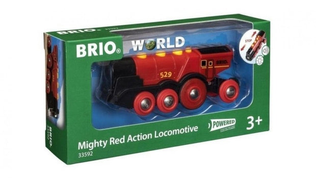 Battery Powered Mighty Red Locomotive