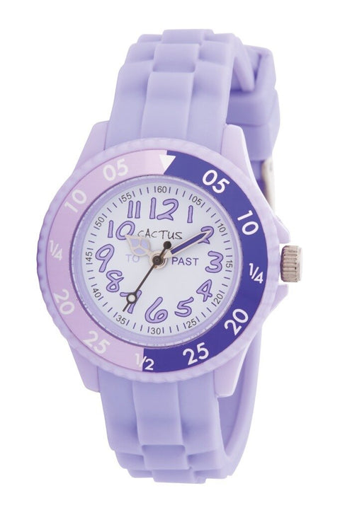Watch -  Lavender with spin dial and silicone numbers