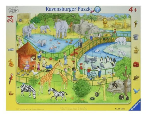 Tray Puzzle 24Pce  - Fun at the zoo