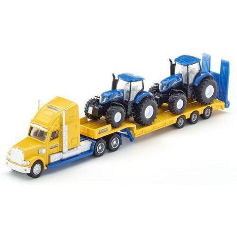 Truck with 2 New Holland Tractors 1805