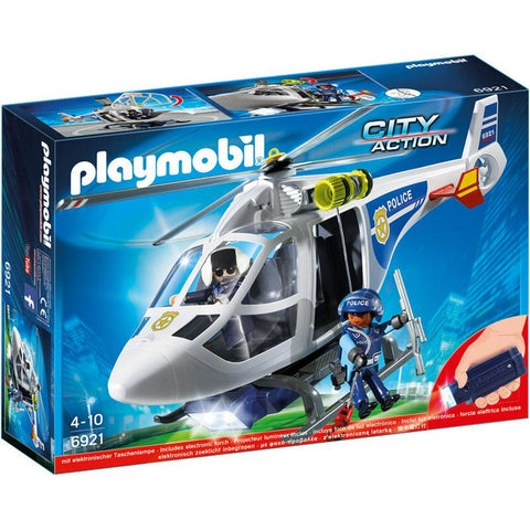 Police Helicopter with Searchlight 6921
