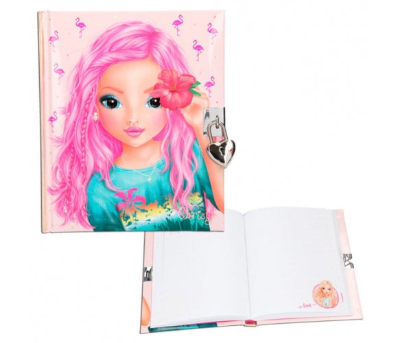 Top Model lockable Diary - Flamingo