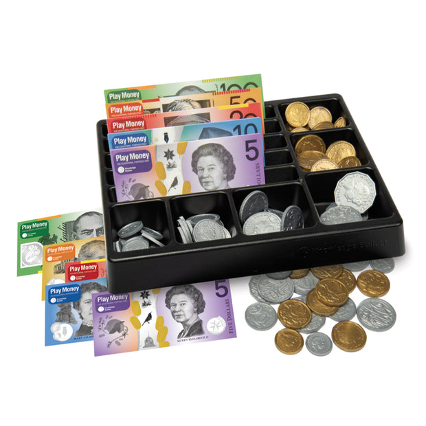 Cash drawer and play money