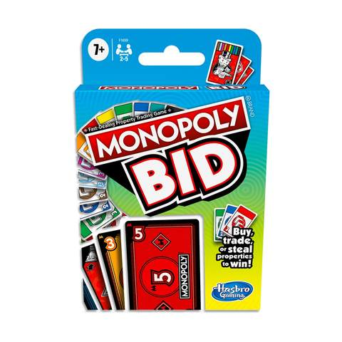 Monopoly Bid Card Game