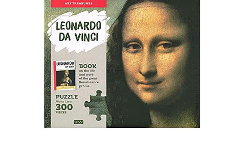 300 Piece Leonardo Da Vinci Puzzle and Book