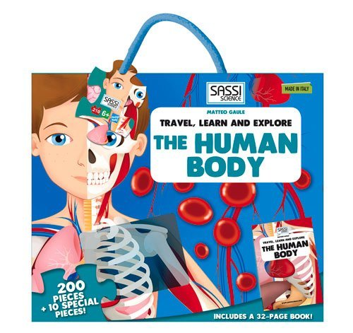 200 Pieces Travel, Learn and Explore the Human Body Shaped Puzzle