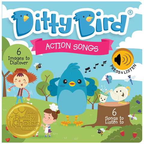 Ditty Bird Action Songs - Board Book