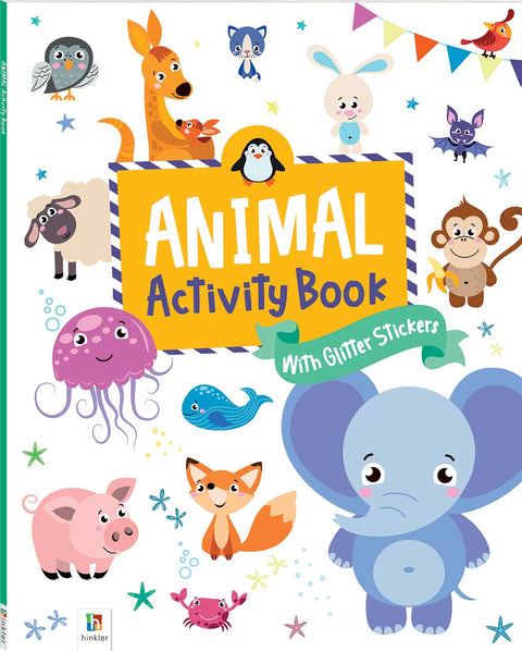 Animal activity and glittery sticker book