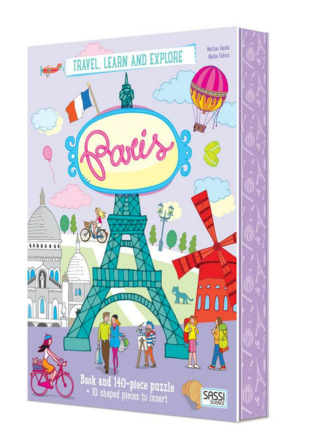 140 Pieces Travel, Learn and Explore Paris Book and Puzzle