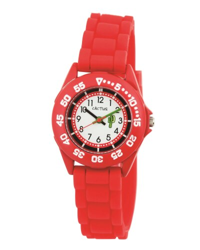 Watch - Red with silicone band