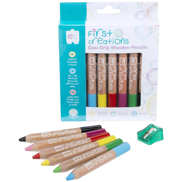 First Creations Easi Grip Wooden Pencils