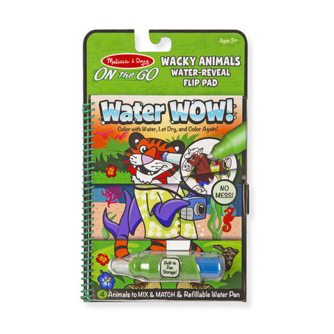 On the Go Water Wow - Wacky Animals Flip Pad