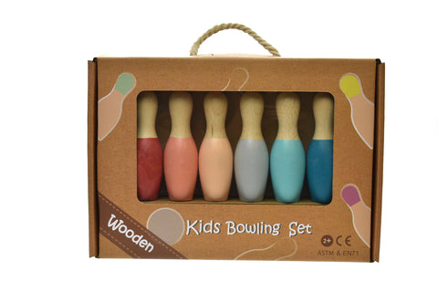 Wooden Bowling Set - for small hands