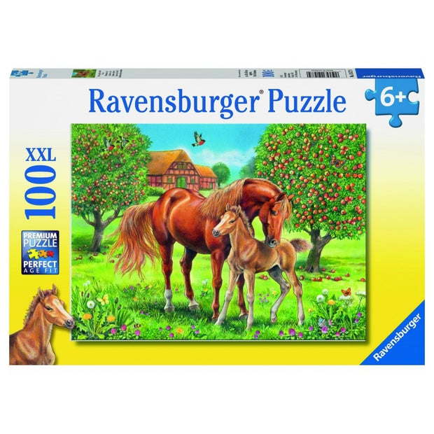 100Pce Horses in the Field Puzzle