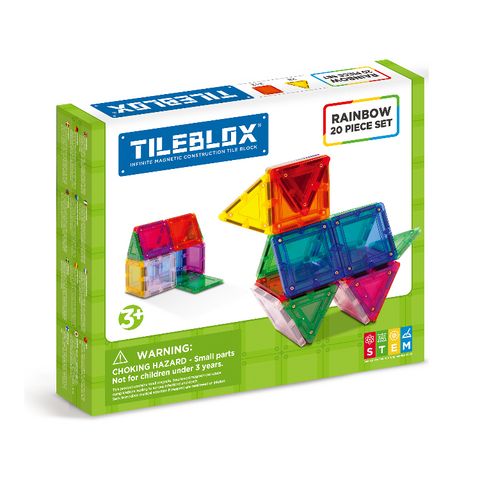 Tileblox 20 piece Magnetic Rainbow Blocks