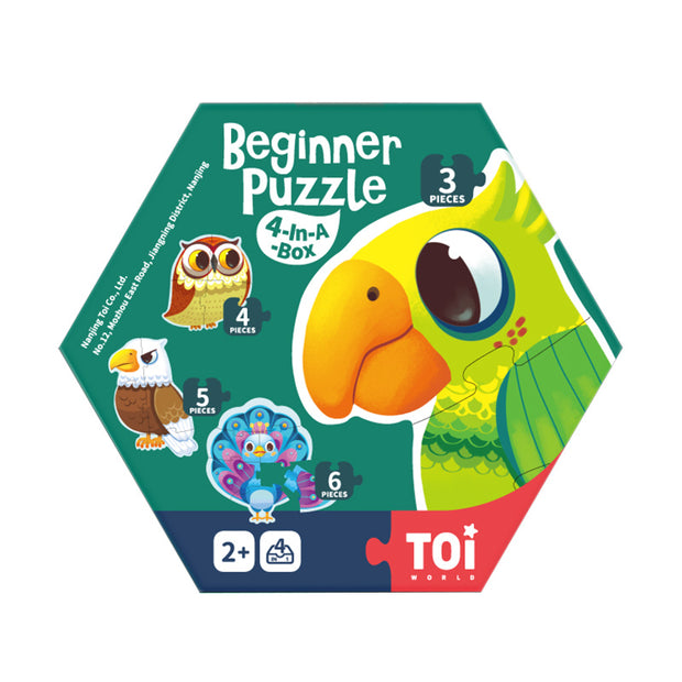 Beginner Puzzle 4 in a box - Forest Birds