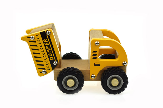 Wooden Dump Truck - rubber wheels