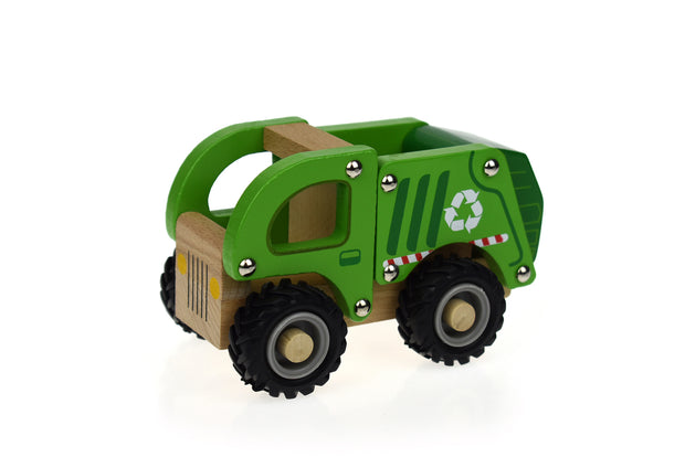 Wooden Recycle Truck - Rubber wheels