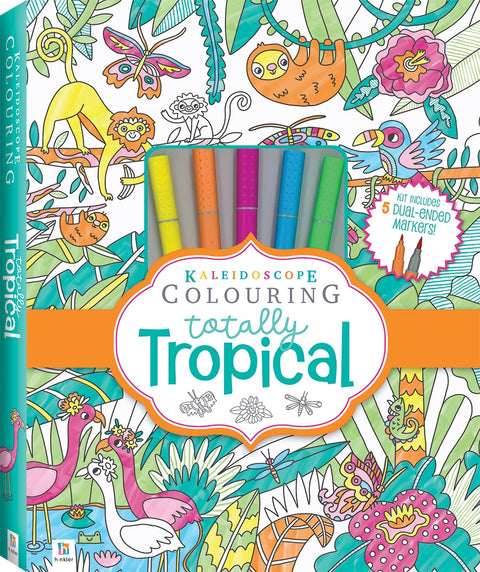 Kaleidoscope Colouring - Totally Tropical