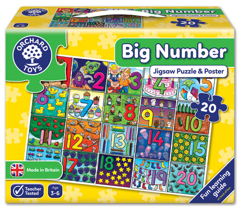 Big Numbers Jigsaw and Poster