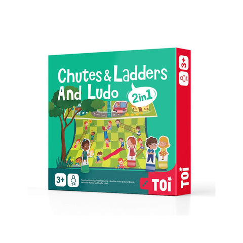 Chutes and Ladders and Ludo - 2 in 1
