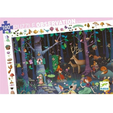 100pce Enchanted Forest Observation Puzzle