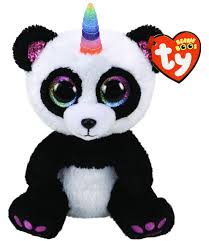 Beanie Boos Reg Paris Panda with Horn