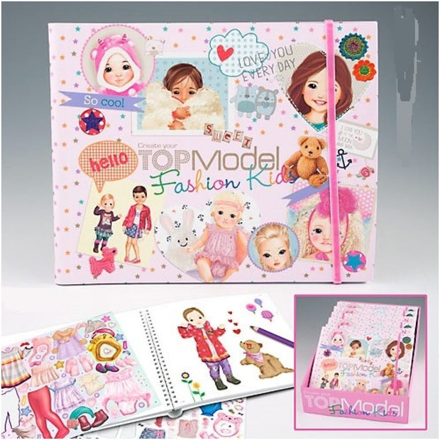 Kids Fashion Colouring and Design book