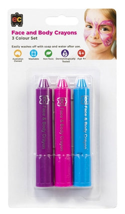 Face and Body Crayons 3 colour set