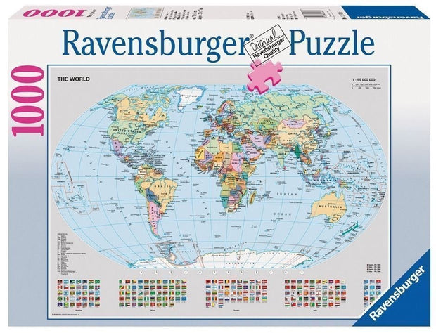 1000 Pce Political World Map Jigsaw Puzzle