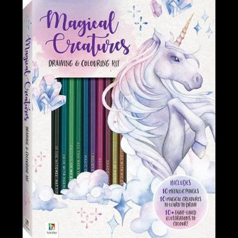 Magical Creatures Drawing And Colouring Kit