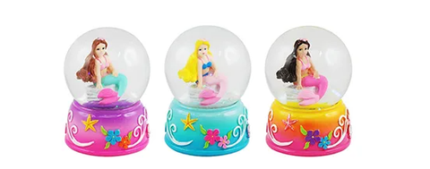 Mini Mermaid Snow Globe Pink