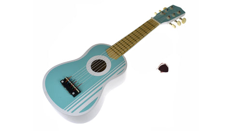 Wooden Ukelele Guitar - pastel blue
