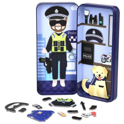 Magnetic Puzzle Tin - Police Officer