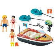 Speedboat with tube riders 70091