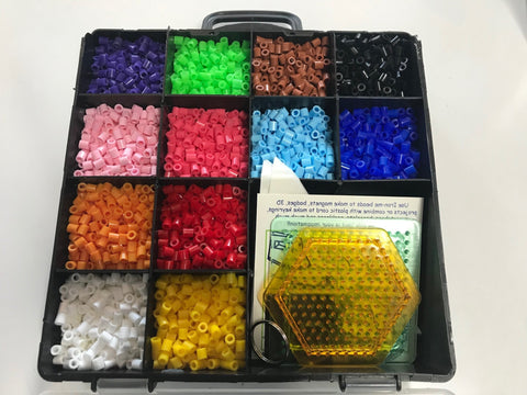 Iron Me Beads - Divided box and templates - Bold Colours